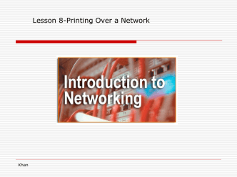 Lesson 8-Printing Over a Network