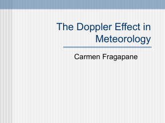 The Doppler Effect in Meteorology