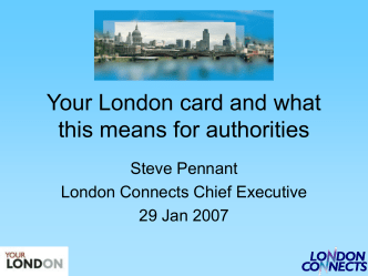 Your London card and what this means for authorities