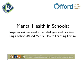 Mental Health in School: Inspiring evidence-informed