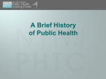 The History of Public Health - Empire State Public Health Training