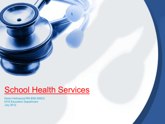 School Health Services - p