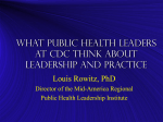 What Public Health Leaders at CDC Think About Leadership and