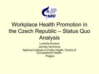 Workplace Health Promotion in the Czech Republic