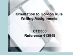 Developing Gordon Rule Assignments