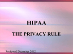 HIPAA: The Privacy Rule