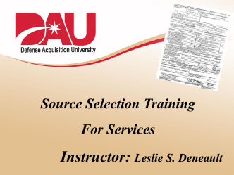 Source Selection for Services