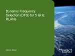 Dynamic Frequency Selection (DFS) for 5 GHz RLANs