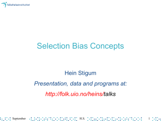 Selection Bias Conce..