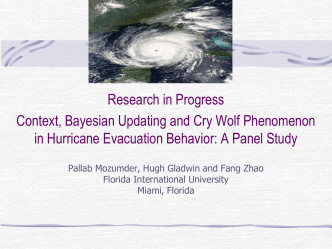 Context, Bayesian Updating and Cry Wolf Phenomenon