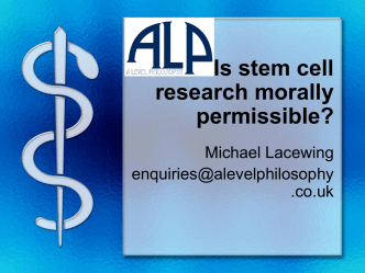 Is stem cell research morally permissible?