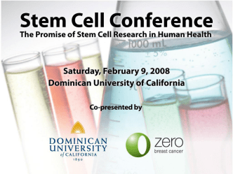 Stem Cells in Science and Medicine
