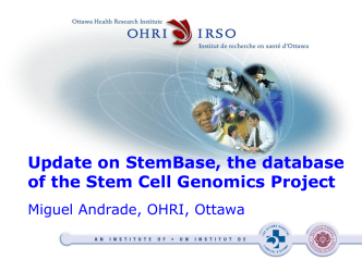 Update on StemBase, the database of the Stem Cell Genomics Project