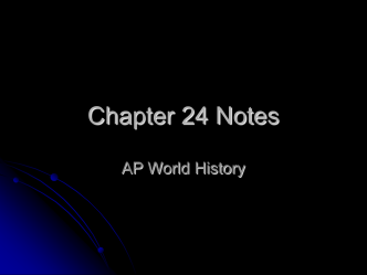 Chapter 24 Notes - San Diego City Schools