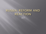 World History 22.5 Russia: Reform and Reaction