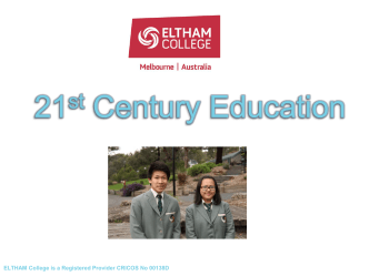 International Presentation - Eltham College International Students