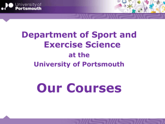 Sports Science - Our Courses ppt