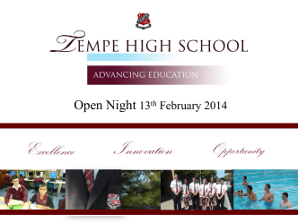 Open Night 2014 - Tempe High School