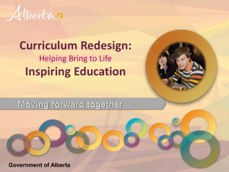 Curriculum Redesign and High School