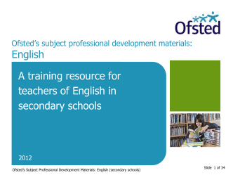 English Professional Development Materials for Secondary