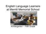 English Language Learners at Merritt School (ppt)