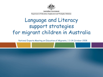 Language and LIteracy Support Strategies for Migrant