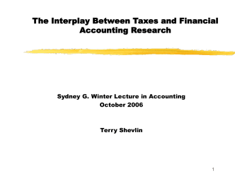 Empirical tax Research in Accounting