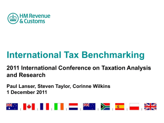INTERNATIONAL TAX BENCHMARKING STUDY - FINDINGS