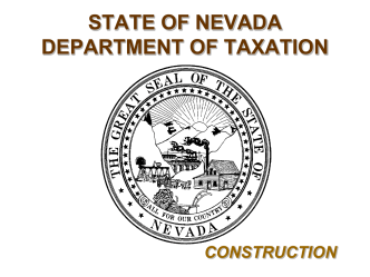 Construction - Nevada Department of Taxation