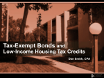 Bond and Tax Credits Basics