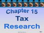Chapter 15: Tax Research