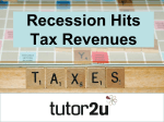 Recession Hits Tax Revenues