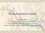 Business and Doing Business in China
