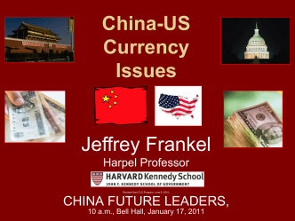 PPT China, the US, and Currency Issues