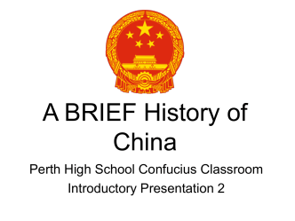China - A brief history