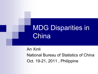 Disparities of MDG in China