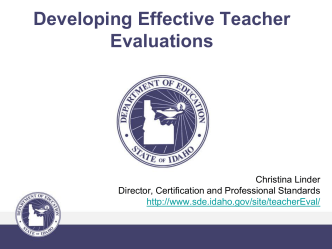 Developing Effective Teacher Evaluations