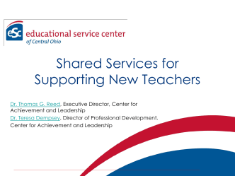 Supports for Mentor Teachers - Educational Service Center of