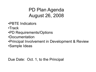 PD Plan - Lebanon R-III School District