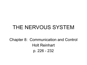 THE NERVOUS SYSTEM - Catawba County Schools
