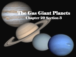 The Gas Giant Planets