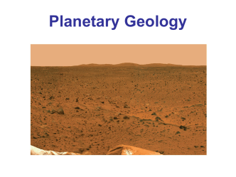 Chapter 24 Planetary Geology Part 1 ()