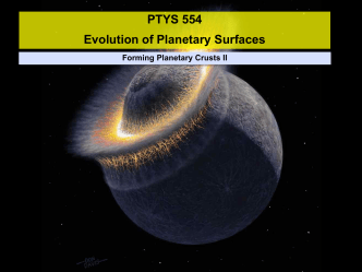 Forming Planetary Crusts II - Lunar and Planetary Laboratory