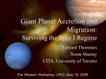 Giant Planet Accretion and Migration: Surviving the Type I regime.