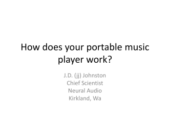 How does your portable music player work?