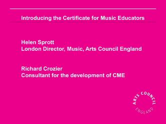 presentation from the Music Education Expo