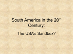 South America in the 20th Century: