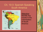 Spanish Speaking South America