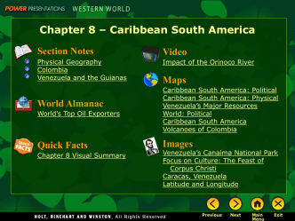 Chapter 8 - Caribbean South America
