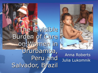 Care Work in South America - Rice University Community